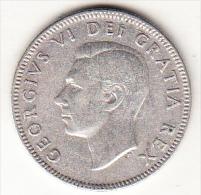 CANADA  1948    25 CENT. GEORGE VI.ARGENT(PLATA)  TTB. CN 4366 - Canada