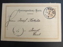 GANZSACHE WIEN - Imst 1897 Korrespondenzkarte  ///  D*16562 - 1850-1918 Imperium