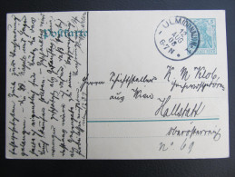 GANZSACHE ULM - HALLSTATT 1908  ///  D*16584 - Ganzsachen