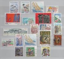 FRANCE ANNEE 1993 N° 2785/2847 21 TIMBRES OBLITERES FAUNE BATEAU CHINON LAMBESC PLAISIR D'ECRIRE.... - Frankreich