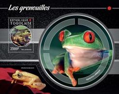 tg15208b Togo 2015 Frog s/s