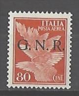 Italia - RSI - 1944 - G.N.R. Posta Aerea - Nuovo/new MNH - Sass. 120 FIRMATO - Poste Aérienne