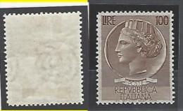 Italia - 1954 - Nuovo/new - Turrita 100L - Mi N. 920 - 6. 1946-.. Repubblica
