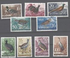 Jugoslavia - 1958 - Usato/used - Uccelli - Mi N. 942/50 - Gebruikt