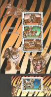 1982 Mi# Blocks 116-117 Used - Tigers - Félins