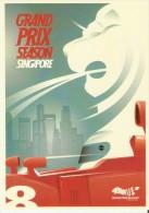 POSTAL DE GRAND PRIX SEASON SINGAPORE (CARRERAS COCHES-CAR-COCHE) - Singapur