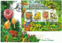 st15206aF S.Tome Principe 2013 Mushroom FDC s/s