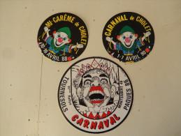 3 Autocollants Cholet Carnaval Micarême - Stickers