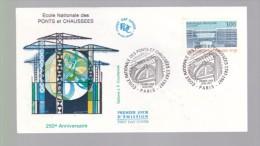 Enveloppe Premier Jour 1er Fdc Ecole Nationale Des Ponts Et Chausees 1997 Paris - FDC