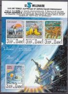 TAAF 2000 Yvert Bloc Feuillet 4 Neuf ** Cote (2015) 13.00 Euro Le 3ème Millenaire Sur Les TAAF - Blocks & Kleinbögen