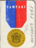 MEMO CAMPARI  Calendrier 1961  Code De La Route  Etc... - Alcohols
