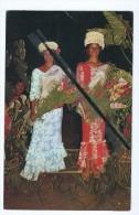 Carte -Miss Tahiti 1965 (Mlle Marie Moua Tapare)3éme Dame D'honneur Du Concours International De Beauté A Long Beach - Polynésie Française
