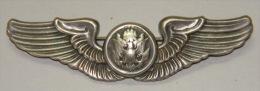 *O332 CUBA MILITAR MEDAL US AVIATOR PIN. SILVER. PLATA 900. - Jetons & Médailles