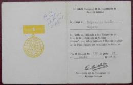 *O357 CUBA MILITAR  MILITAR CREDENCIAL DE MEDALLA CERTIF SELLO DE  ESTIMULO FMC. - Other