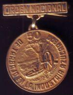 *O400 CUBA MEDAL. 1967. ORDEN NACIONAL DEL TRABAJO EN LA INDUSTRIA AZUCARERA. - Tokens & Medals