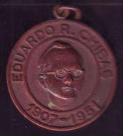 *O403 CUBA MEDAL. 1907-1951. MEDALLA CONMEMORATIVA EDUARDO R. CHIBAS. - Tokens & Medals