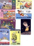 Tt16-980. Lote De 8 Tarjetas Telefónicas De Dibujos - Telefonkarten