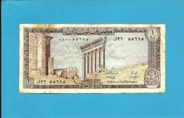LEBANON - 1 LIVRE - 1980 - P 61.c - 2 Scans - Líbano