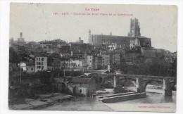 (RECTO / VERSO) ALBI EN 1909 - N° 786 - QUARTIER DU PONT VIEUX - Ed. LABOUCHE FRERES - BEAU CACHET - Albi