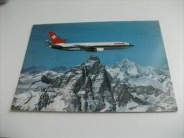 AEREO IN VOLO SWISSAIR  DC 10  MATTERHORN WEISSHORN - 1946-....: Modern Era