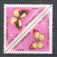 51-567 // MALI - 1964/84   OFFICIAL  STAMPS   BUTTERFLIES  Mi  11/12 ** - Mali (1959-...)
