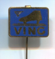 FIGURE SKATING - VING, Vintage Pin  Badge - Patinage Artistique