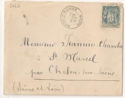 BOURG ST MAURICE Savoie Sur Enveloppe Au Type SAGE. - 1877-1920: Période Semi Moderne