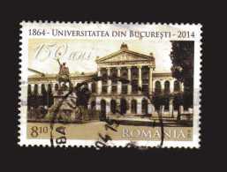 Romania - ° - 2014 -  150 Ani  Universitatea Din Bucuresti.  Used - 1948-.... Repubbliche