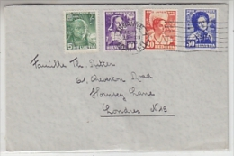 Switzerland 19*36 Pro Juventute 4v On Letter To London Ca Lausanne 29 XII 1936 (22147) - Lettres & Documents