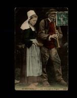 29 - TREGUNC - Costumes - Coiffes - L'aveugle - Sonneur - Trégunc