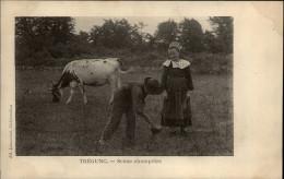 29 - TREGUNC - Costumes - Coiffes - Vache - Trégunc