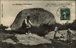 29 - TREGUNC - Pierre Tremblante - Cachet De Voyageur Au Verso - Trégunc