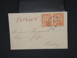 FRANCE-INDOCHINE-Enveloppe ( Format Carte De Visite) De Hanoi Pour Haiphong En 1929     P5893 - Indochina (1889-1945)