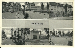 GERMANIA   NEU- ISENBURG Rathaus  Postamt  Gymnasium  Kirche  Schule - Neu-Isenburg