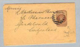 MOTIV PERFIN Grossbritannien 1896-08-28 Auf GS 1/2 Penny FS - Variétés, Erreurs & Curiosités