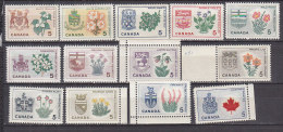 F0491 - CANADA Yv N°343/55 ** ARMOIRES ET FLEURS - Unused Stamps