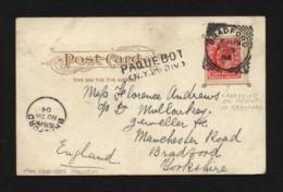 "USA-GB 1904 ""NEW YORK"" PAQUEBOT POSTCARD - Postal History"