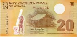 BILLETE DE NICARAGUA DE 20 CORDOBAS DEL AÑO 2007 SIN CIRCULAR-UNCIRCULATED  (BANK NOTE) POLIMERO - Nicaragua