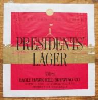 Etiket, Label, Bier, Beer, Presidents' Lager - Andere Verzamelingen
