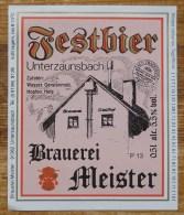 Etiket, Label, Bier, Beer, Festbier, Meister - Andere Verzamelingen