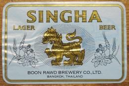 Etiket, Label, Bier, Beer, Singha - Andere Verzamelingen