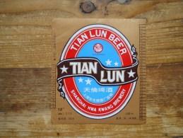 Etiket, Label, Bier, Beer, Tian Lun - Andere Verzamelingen
