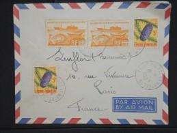 FRANCE-SAINT PIERRE ET MIQUELON-Enveloppe De St Pierre Pour Paris En 1953 Aff Plaisant à Voir     P5914 - St.Pierre Et Miquelon