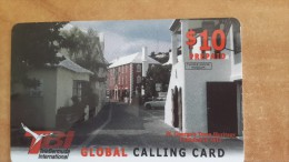 Bermuda-global Calling Card-$10 Prepiad Card-used+1 Card Prepiad Free - Bermude