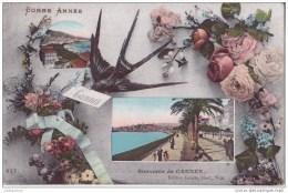 06 CANNES SOUVENIR VUES FETE BONNE ANNEE TRES ANIMEES.CPA BON ETAT - Cannes
