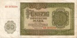 BILLETE DE ALEMANIA DE 50 MARK DEL AÑO 1948 (BANKNOTE) - [ 6] 1949-1990 : RDA - Rep. Dem. Alemana