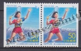 Japan - Japon 2000 Yvert 2899a, 55th National Sports Meeting, Badminton - Pair From Booklet - MNH - 1989-... Emperor Akihito (Heisei Era)