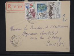 FRANCE-MADAGASCAR-Enveloppe En Recommandée De Bealannana  Pour La France En 1959  Aff Trés Plaisant à Voir     P5925 - Madagascar (1889-1960)
