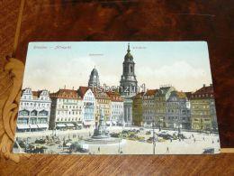 Dresden Altmarkt Rathausturm Kreuzkirche 1918 Gebrüder Eberstein Renner Masken Garderobe ...  Germany - Dresden