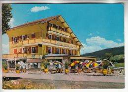 """LES ROUSSES 39 - Hotel Restaurant """" AU GAI PINSON """" : Vue Extérieure Et Terrasse - CPSM GF - Jura - Autres Communes"""